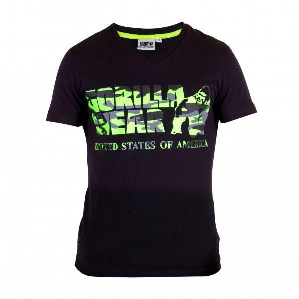 Футболка Sacramento V-Neck T-Shirt Black/Lime Neon