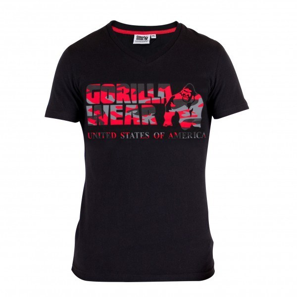 Футболка Sacramento V-Neck T-Shirt Black/Red