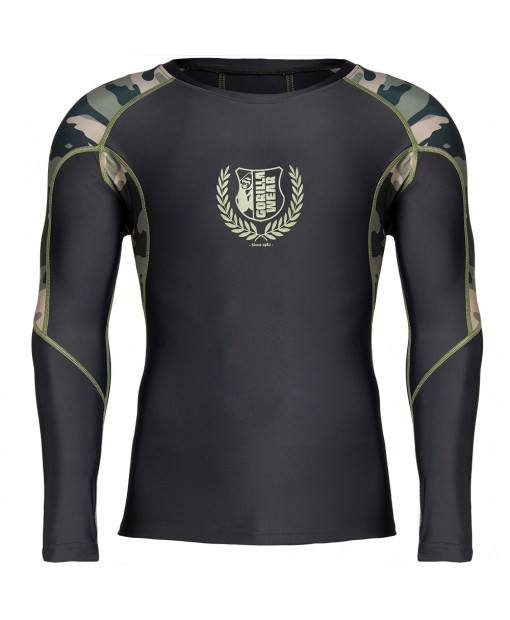Lander Rashguard Long Sleeves - Army Green Camo