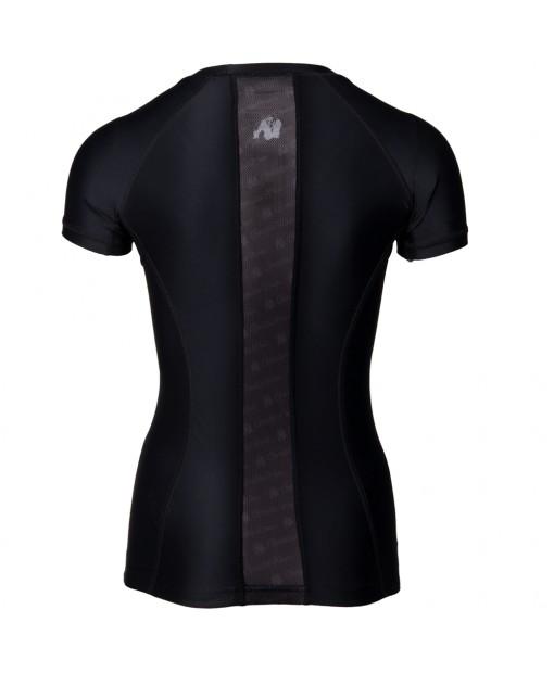 Carlin Compression Short Sleeve Top Black/Black