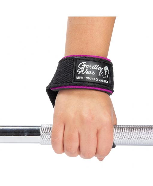 Лямки женские Padded Lifting Straps Black/Purple7