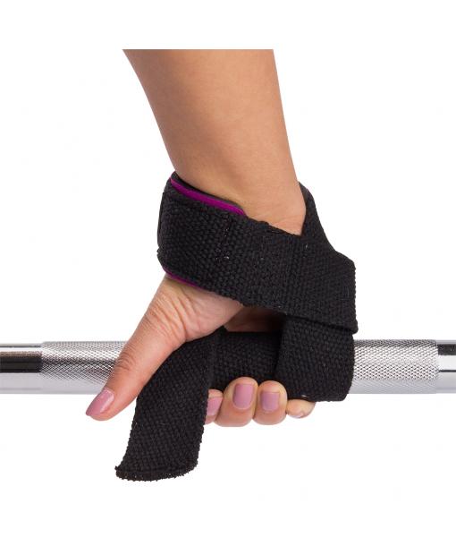 Лямки женские Padded Lifting Straps Black/Purple8