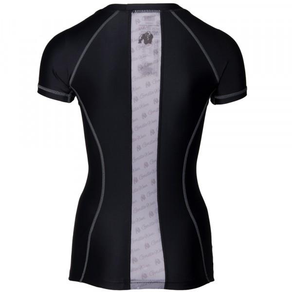 Carlin Compression Short Sleeve Top Black/Gray