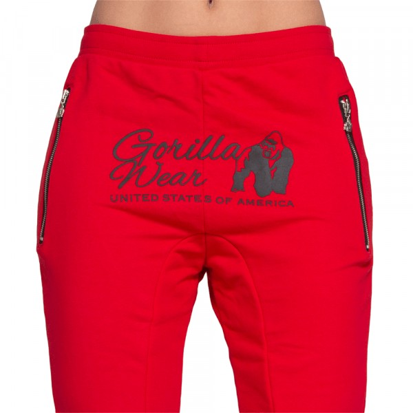 Celina Drop Crotch Joggers Red