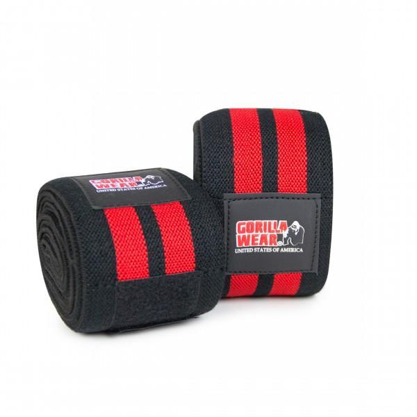 Коленные бинты Knee Wraps 79 Inch Black/Red