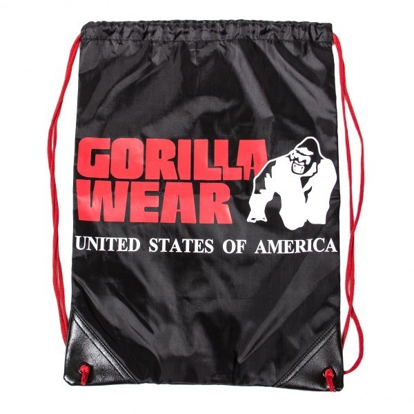 Сумка GORILLA WEAR DRAWSTRING BAG BLACK/RED