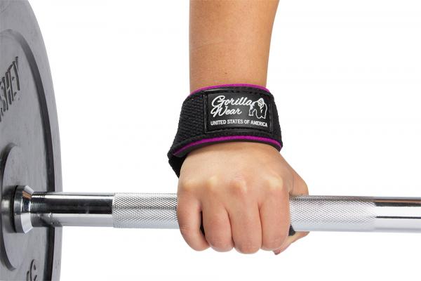 Лямки женские Padded Lifting Straps Black/Purple9