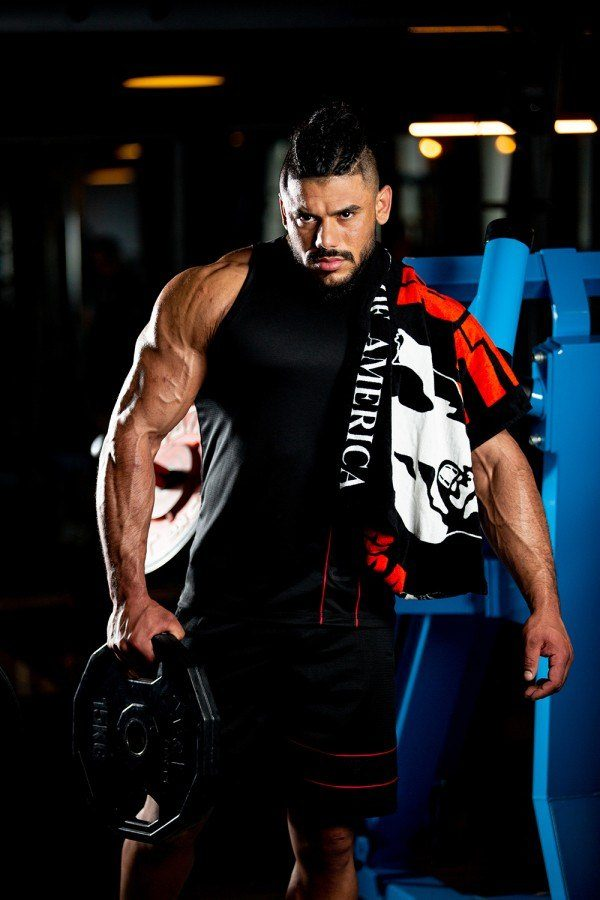 Полотенце Classic Gym Towel Black/Red3