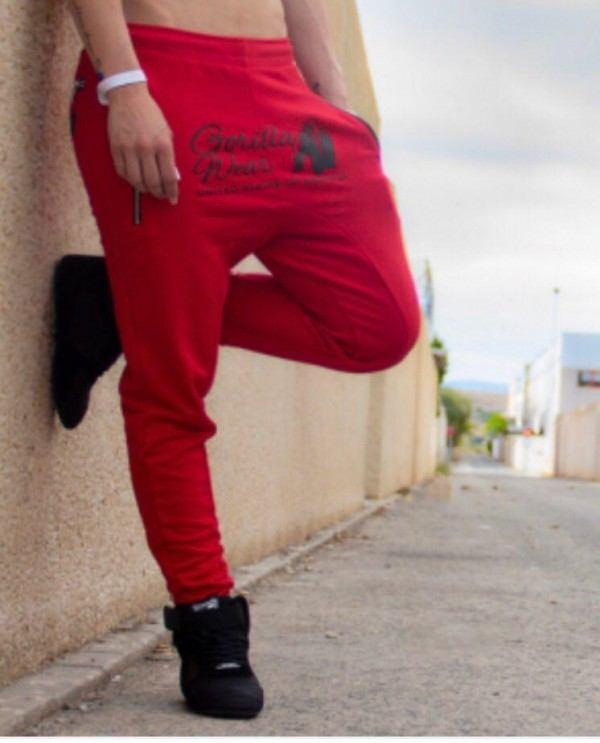 Celina Drop Crotch Joggers Red 1